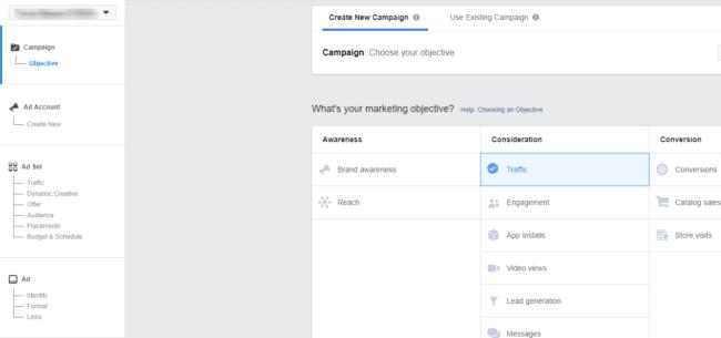 Obiettivi della campagna pubblicitaria su Facebook