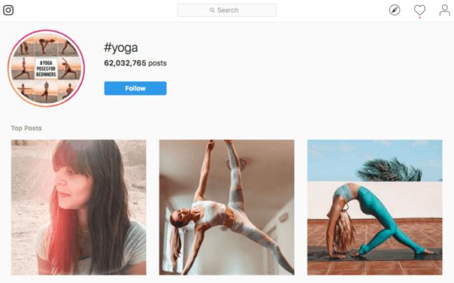 Een yoga-les promoten via Instagram