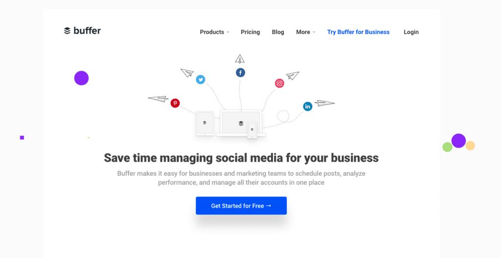 Buffer on yksi parhaista sosiaalisen median hallintatyökaluista tapahtumiin.