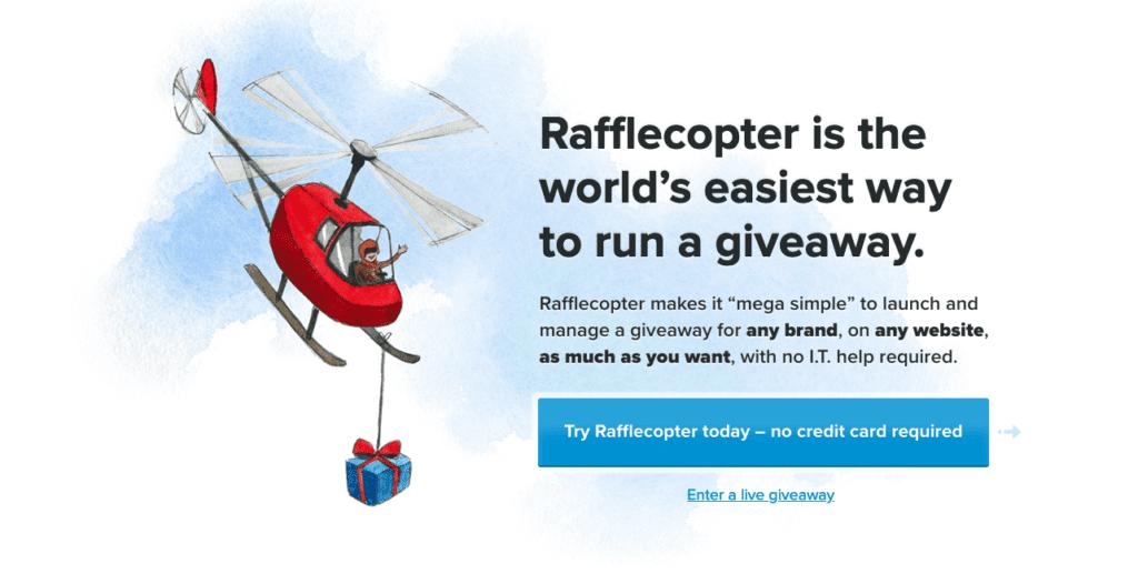 Rafflecopter on yksi erityisimmistä sosiaalisen median hallintatyökaluista tapahtumiin.