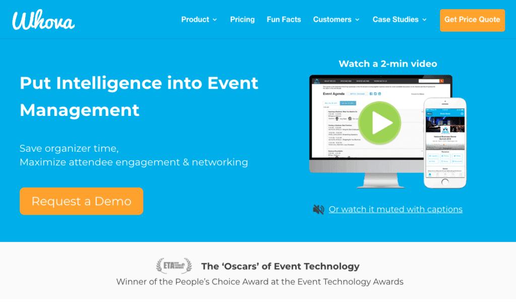 Bedste eventapps: Whova.