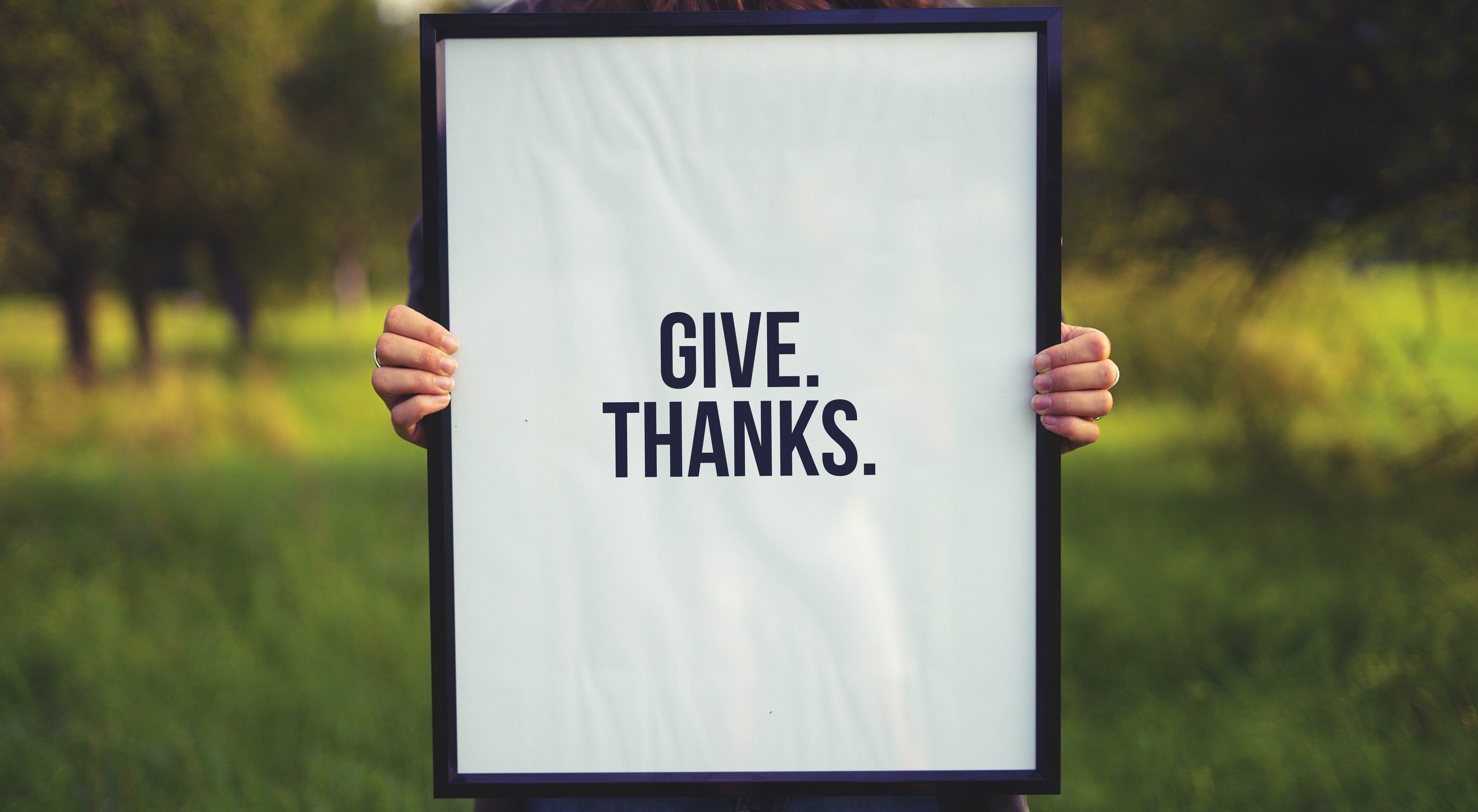 Tacksamhet som det här, är nyckeln när du följer upp efter ditt wellness evenemang