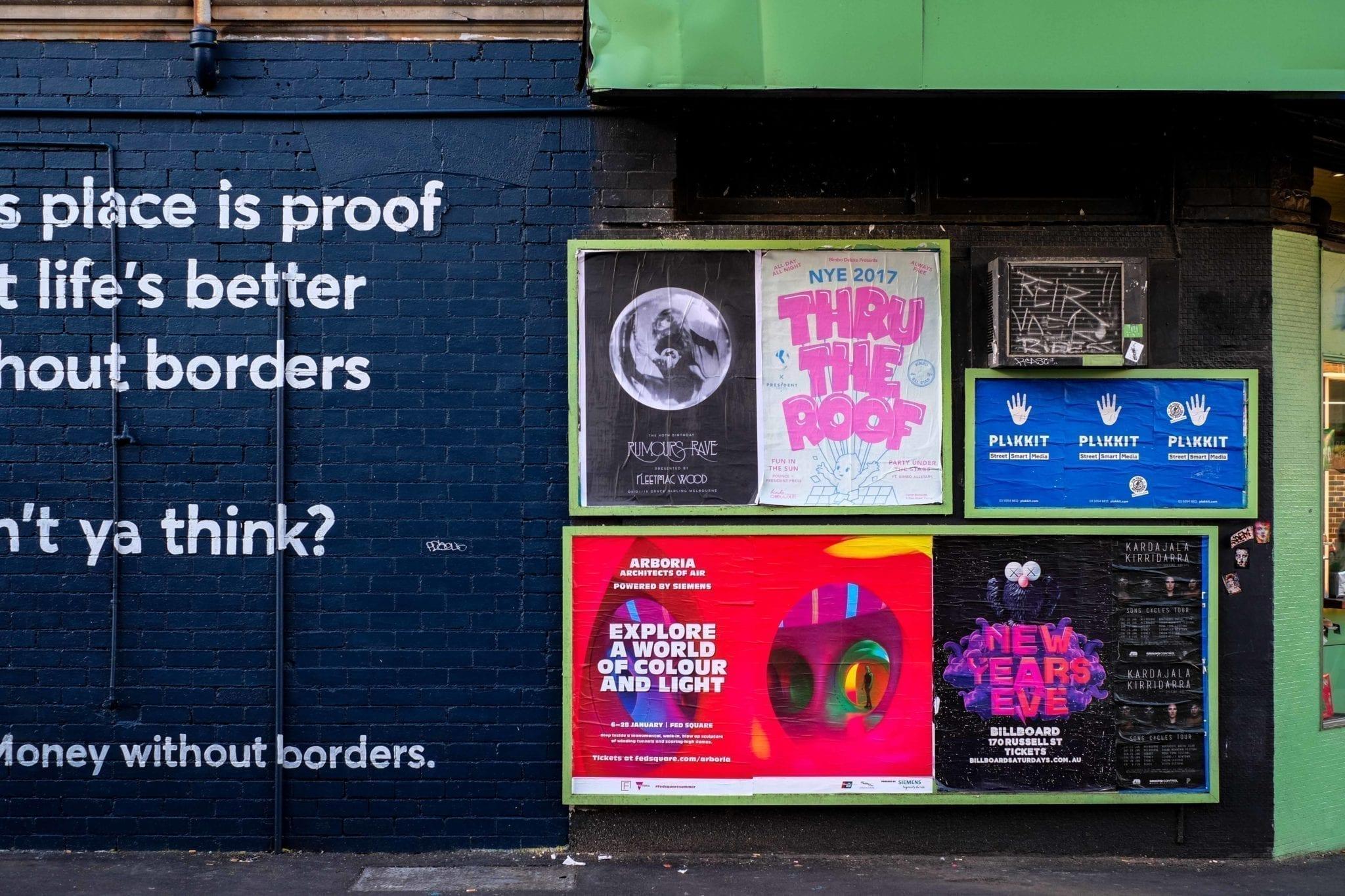 Poster sind immer noch ein gutes Mittel, um ein Sportevent zu promoten.
