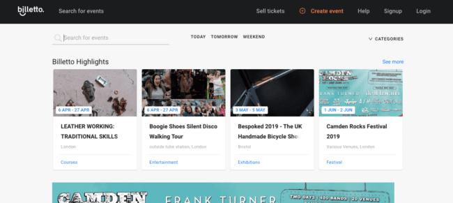 uno dei migliori siti su cui vendere i biglietti: Billetto