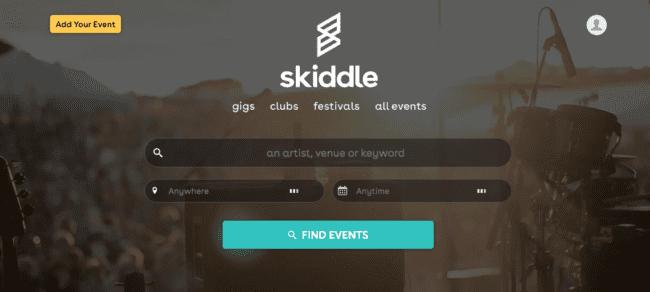 Skiddle er et annet beste nettsted å selge billetter på