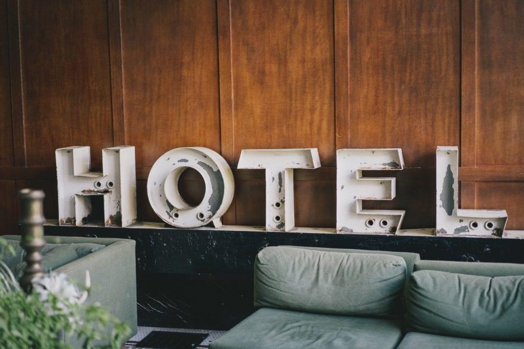 Typer av lokaler för evenemang: Hotell.