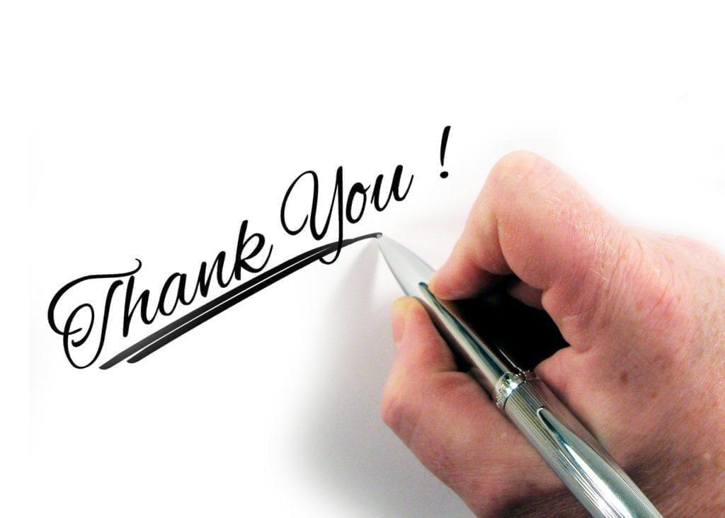 Jatkotoimet urheilutapahtuman jälkeen: kiitä kaikkia osallistuneita.