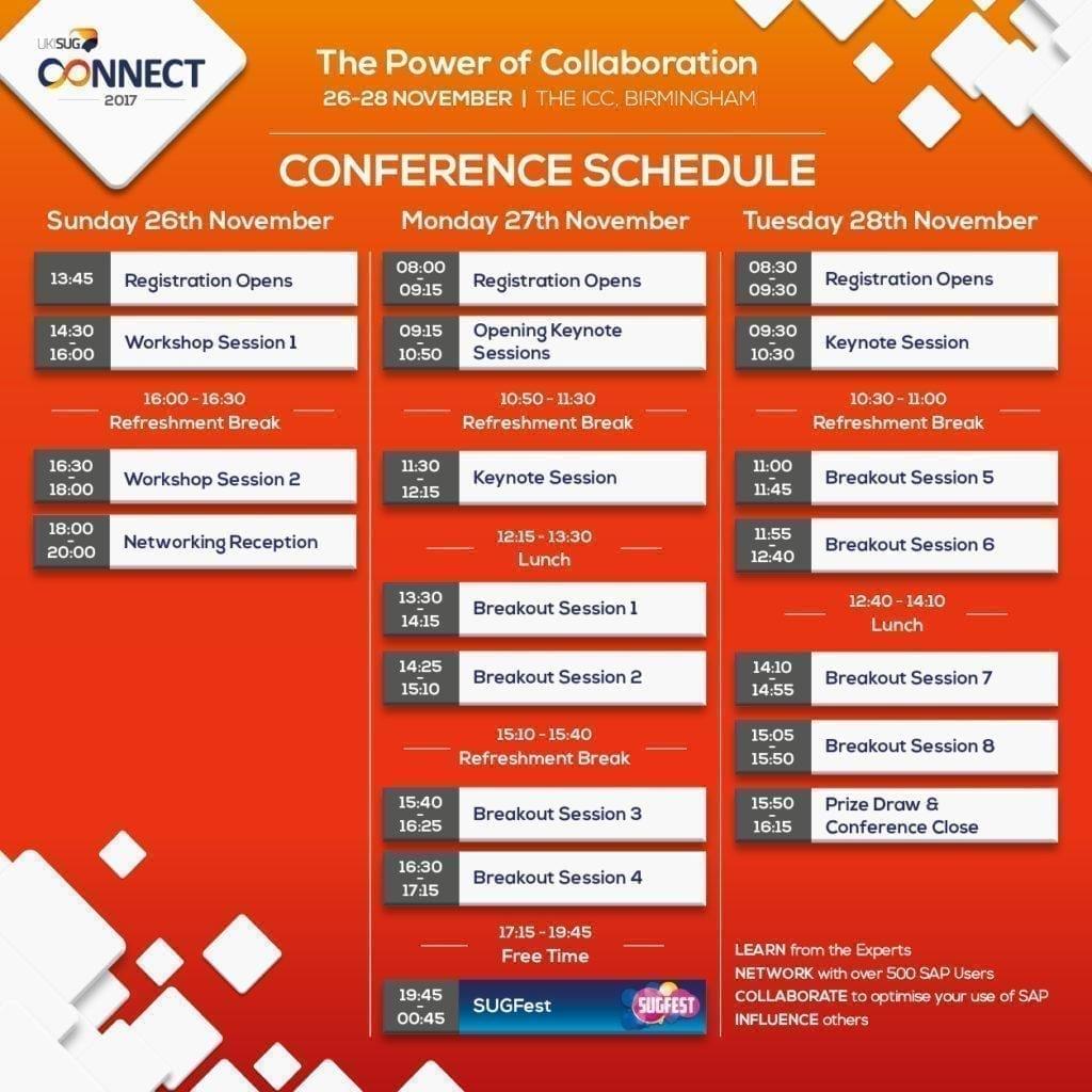 Conferentie agenda: Voorbeeld van een conferentie agenda.