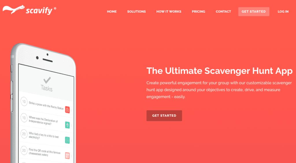 Speurtocht ideeën: De Scavify website.