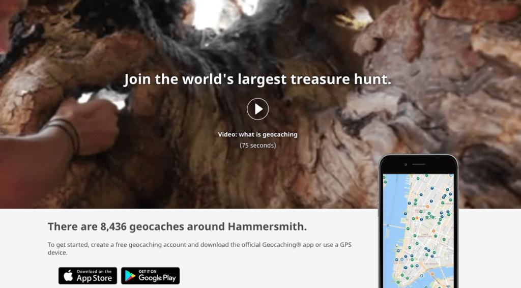 Speurtocht ideeën: De Geocaching website.