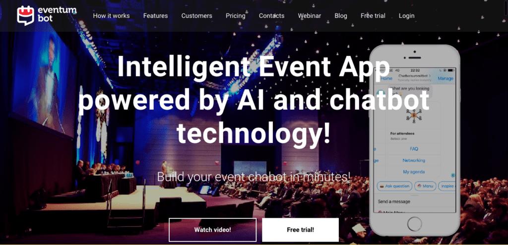 2019 in Evenementen: Eventum Bot is een van de vele chatbots die je kunt gebruiken.