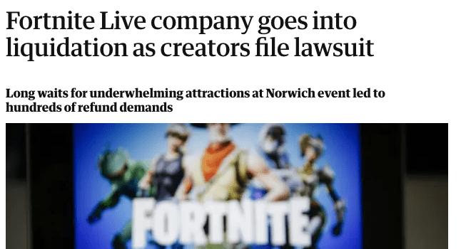 Este fue el resultado de Fortnite Live.