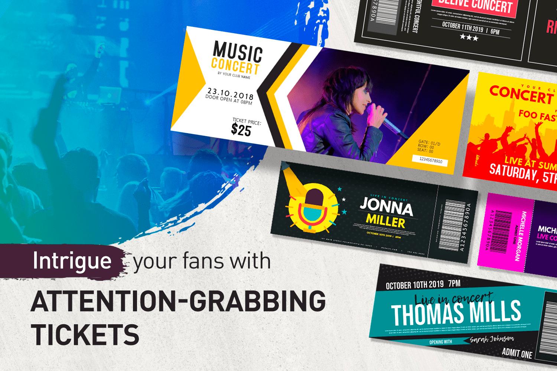 Begeistere deine Fans mit aufmerksamkeitsstarken Tickets