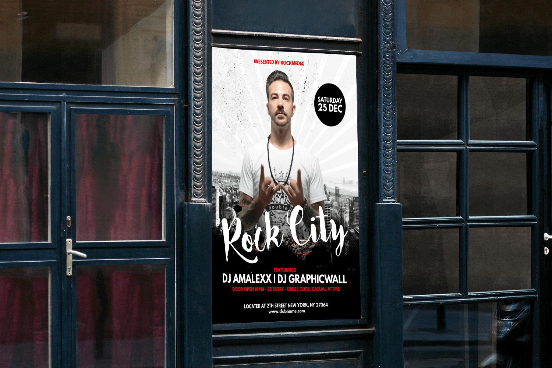 Rock City ist ein großartiges Beispiel für einen richtig gemachten Konzertflyer