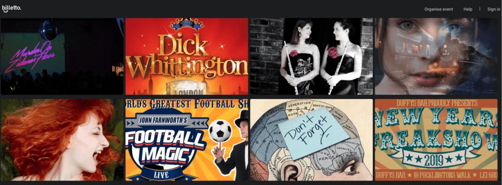 Biglietti per il teatro: Alcune delle produzioni che troverete su Billetto.